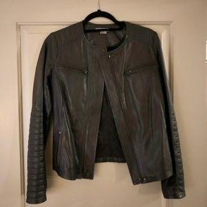 Vince - Black Leather Woman's Jacket